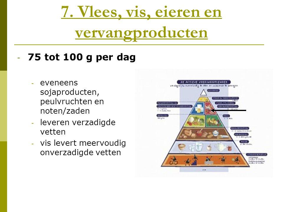 7. Vlees, vis, eieren en vervangproducten
