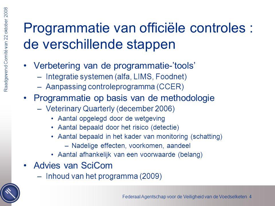Programmatie van officiële controles : de verschillende stappen