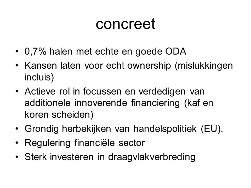 concreet 0,7% halen met echte en goede ODA