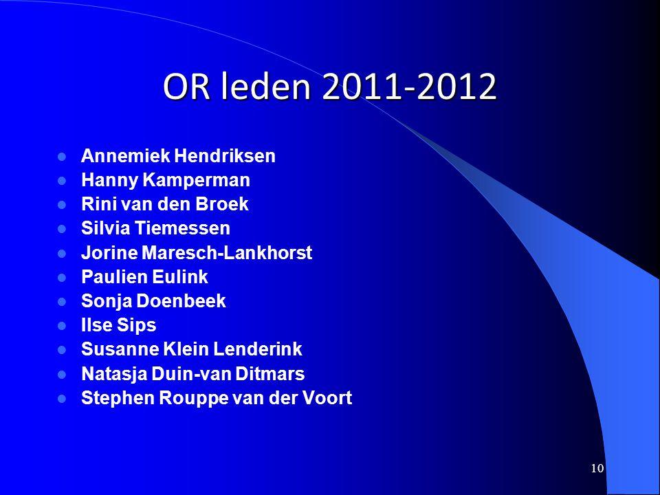OR leden 2011-2012 Annemiek Hendriksen Hanny Kamperman