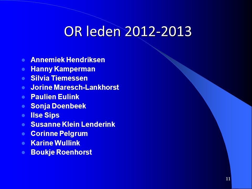 OR leden 2012-2013 Annemiek Hendriksen Hanny Kamperman