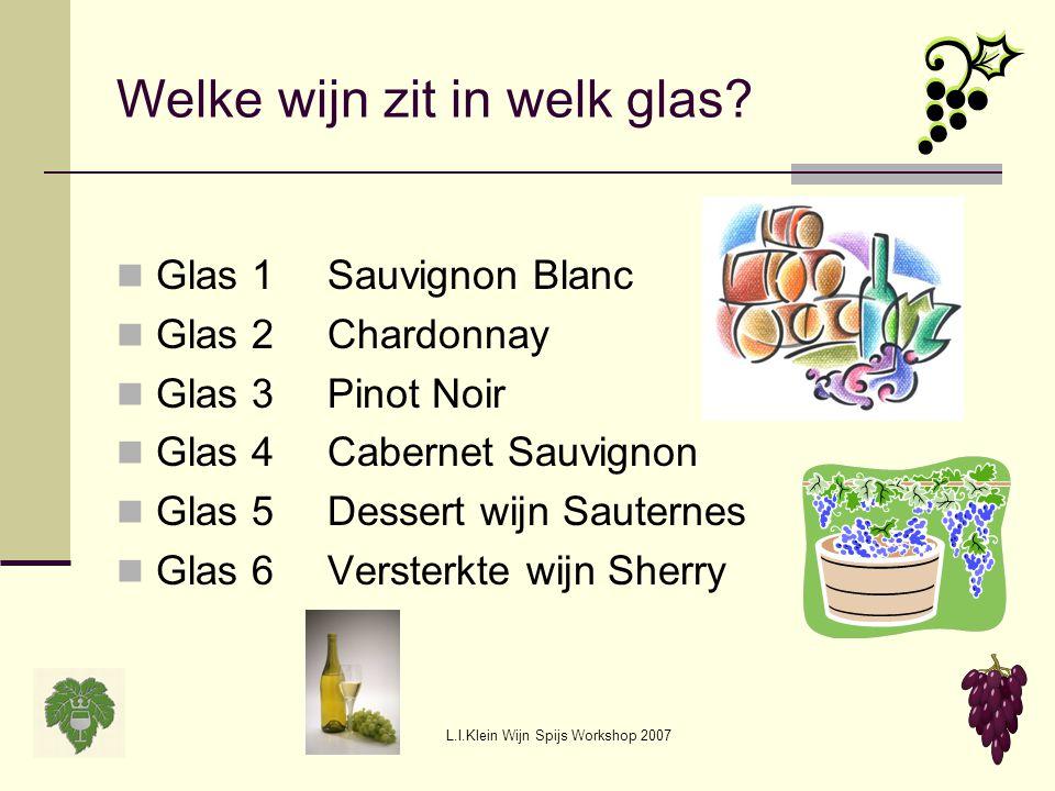 Welke wijn zit in welk glas