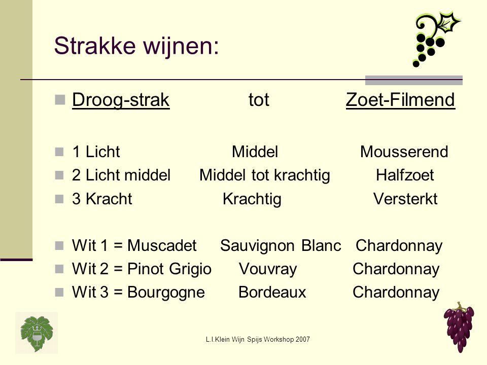L.I.Klein Wijn Spijs Workshop 2007