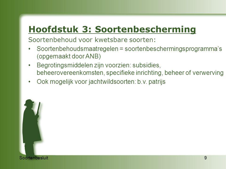 Hoofdstuk 3: Soortenbescherming