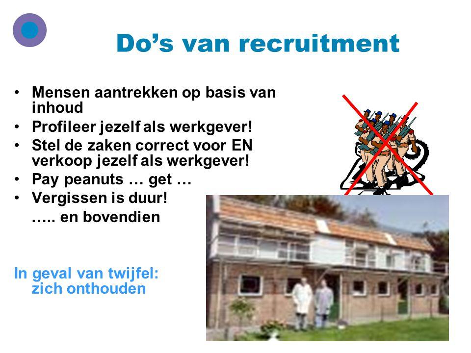 Do's van recruitment Mensen aantrekken op basis van inhoud