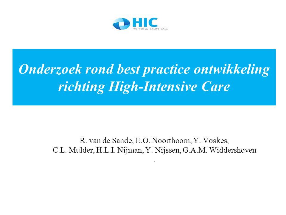 Onderzoek rond best practice ontwikkeling richting High-Intensive Care
