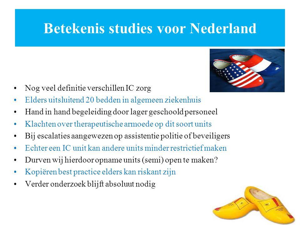 Betekenis studies voor Nederland