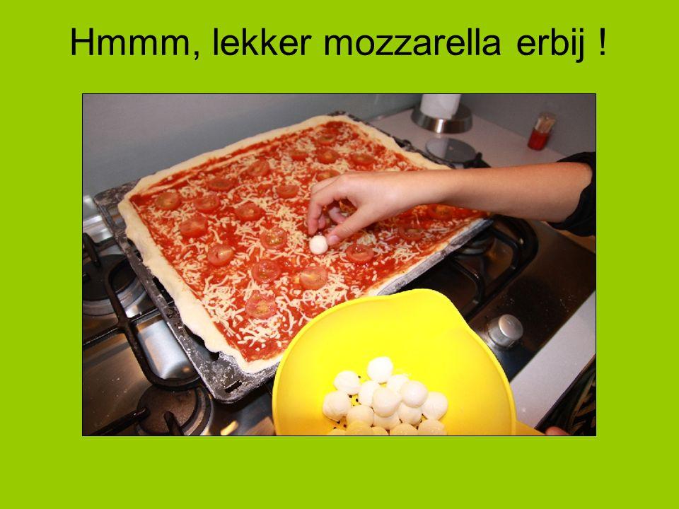 Hmmm, lekker mozzarella erbij !