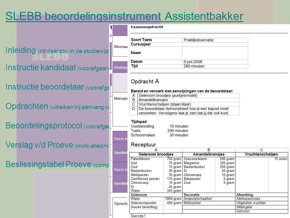 SLEBB beoordelingsinstrument Assistentbakker