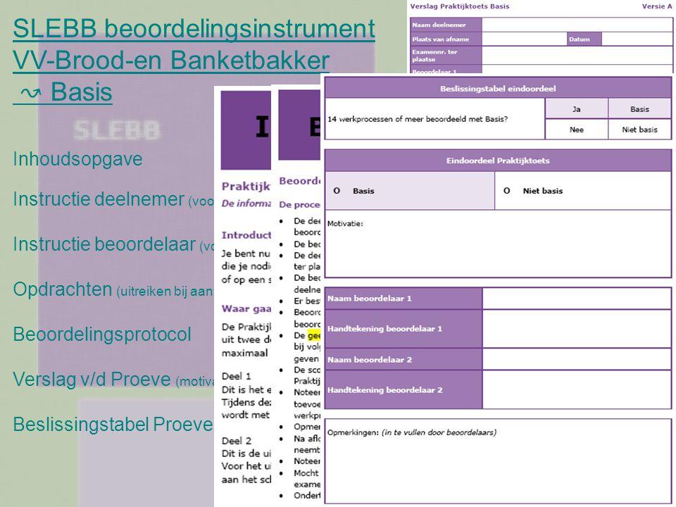 SLEBB beoordelingsinstrument VV-Brood-en Banketbakker ↝ Basis