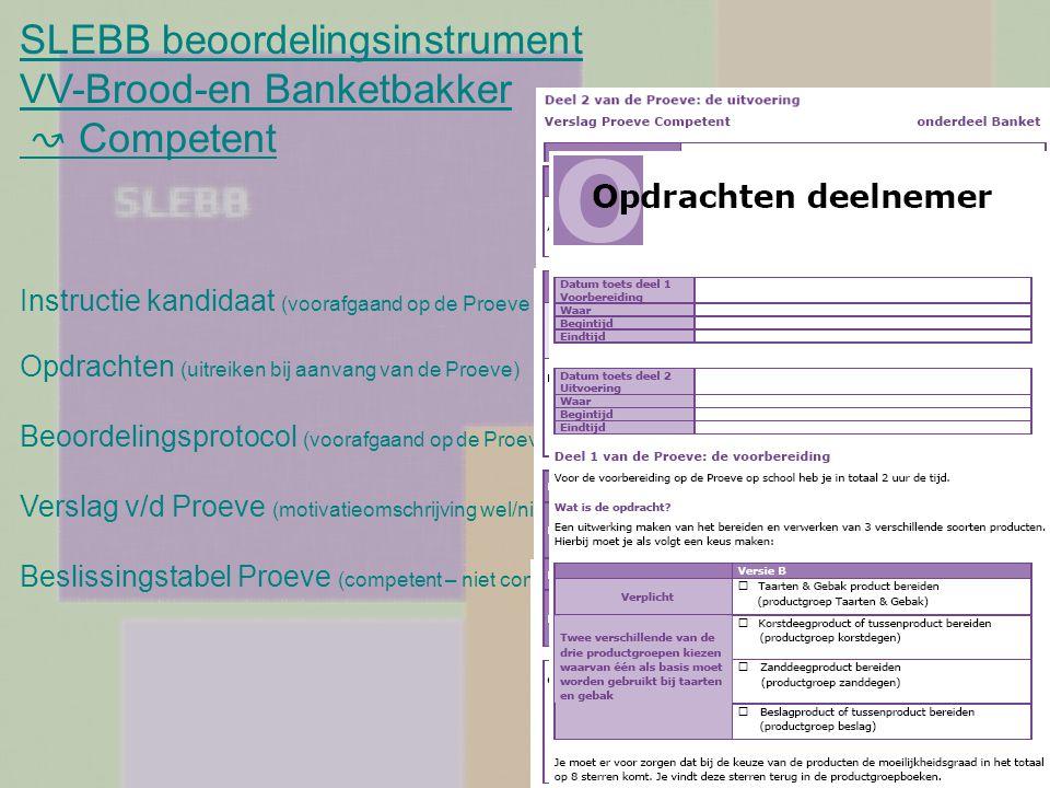 SLEBB beoordelingsinstrument VV-Brood-en Banketbakker ↝ Competent