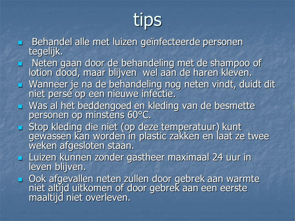 tips Behandel alle met luizen geïnfecteerde personen tegelijk.