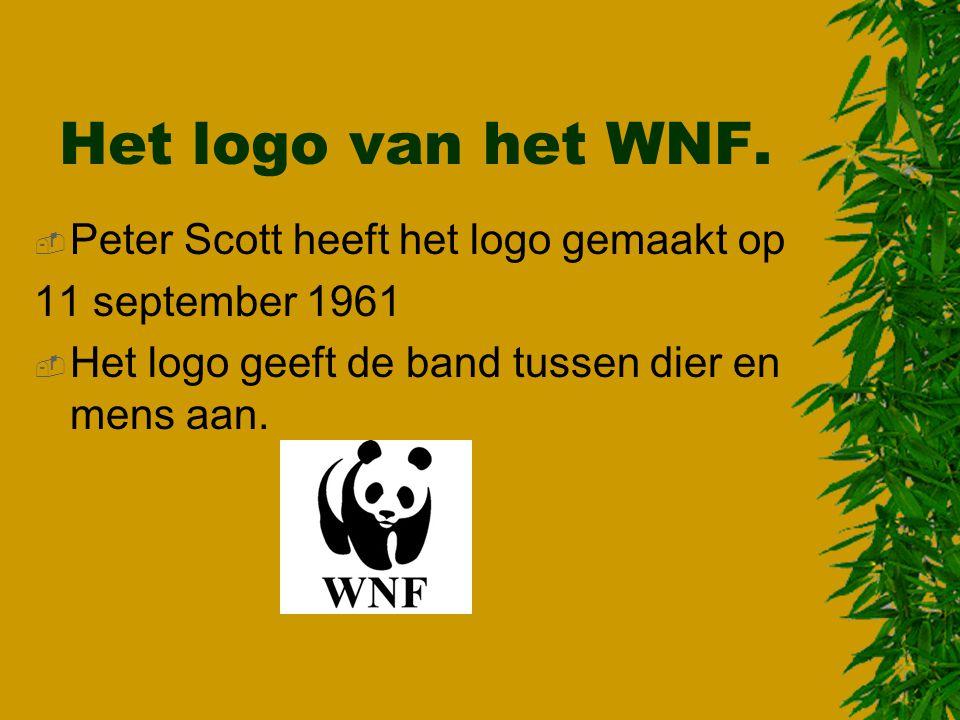 Het logo van het WNF. Peter Scott heeft het logo gemaakt op