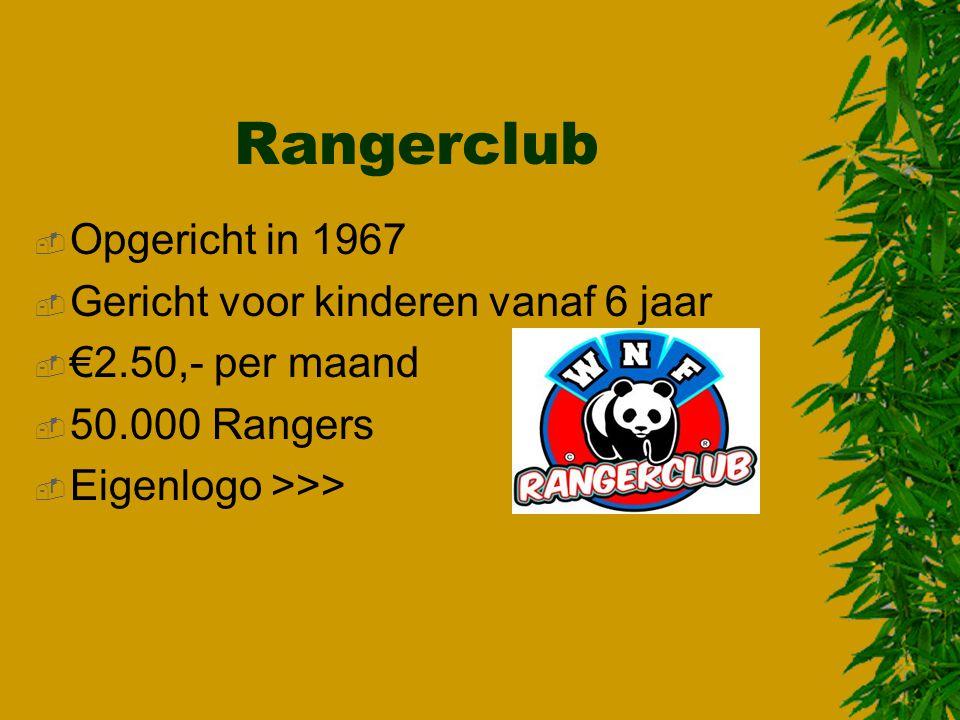 Rangerclub Opgericht in 1967 Gericht voor kinderen vanaf 6 jaar