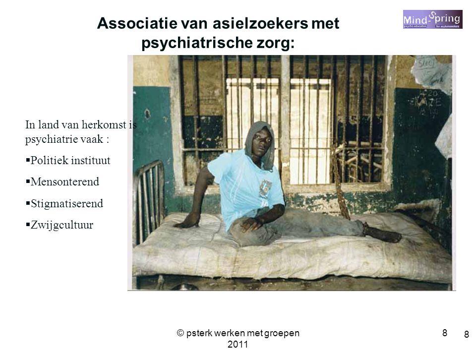 Associatie van asielzoekers met psychiatrische zorg: