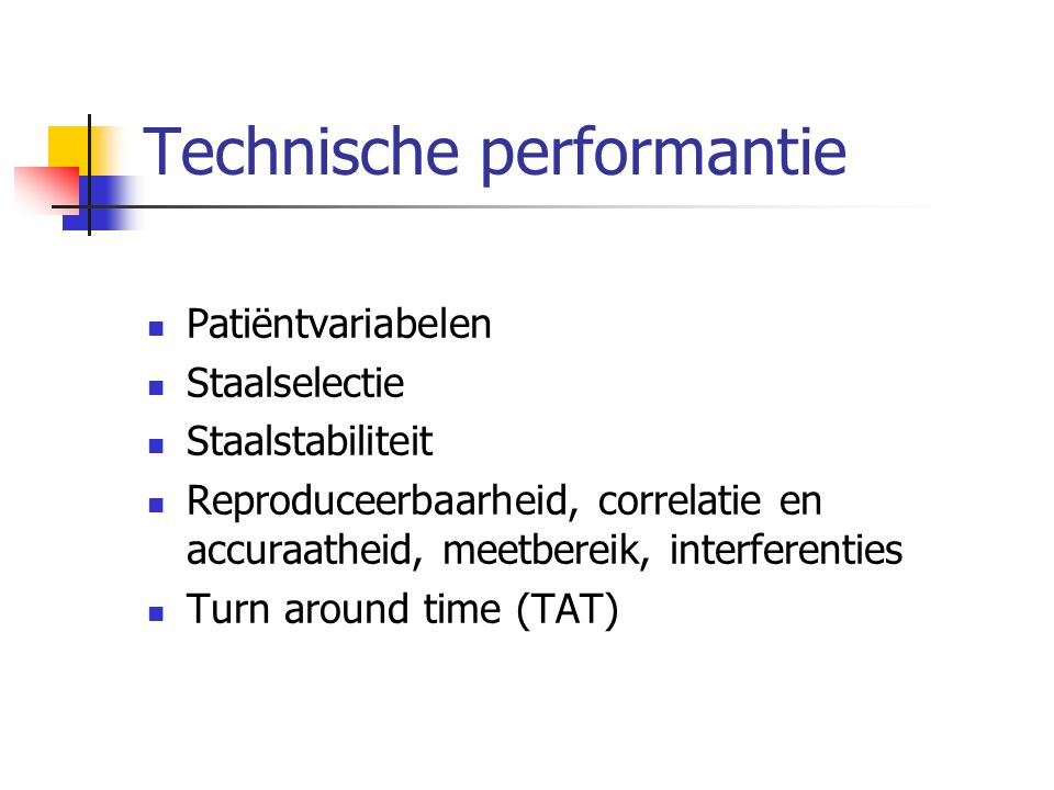 Technische performantie