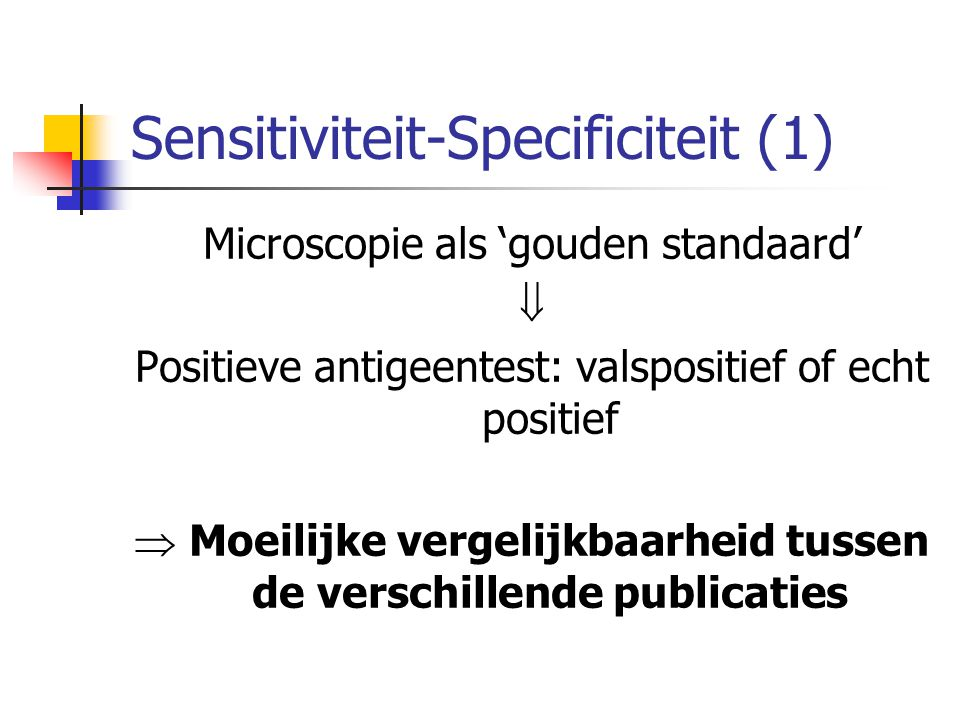 Sensitiviteit-Specificiteit (1)