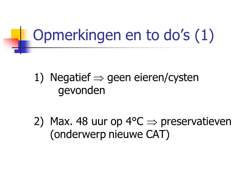 Opmerkingen en to do's (1)