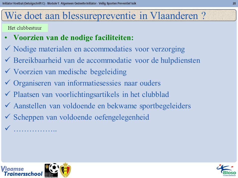 Wie doet aan blessurepreventie in Vlaanderen