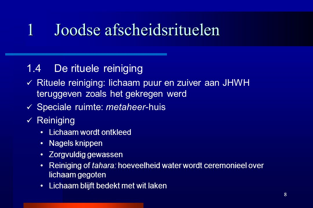 1 Joodse afscheidsrituelen