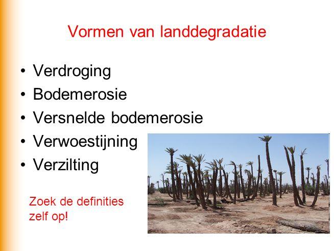 Vormen van landdegradatie