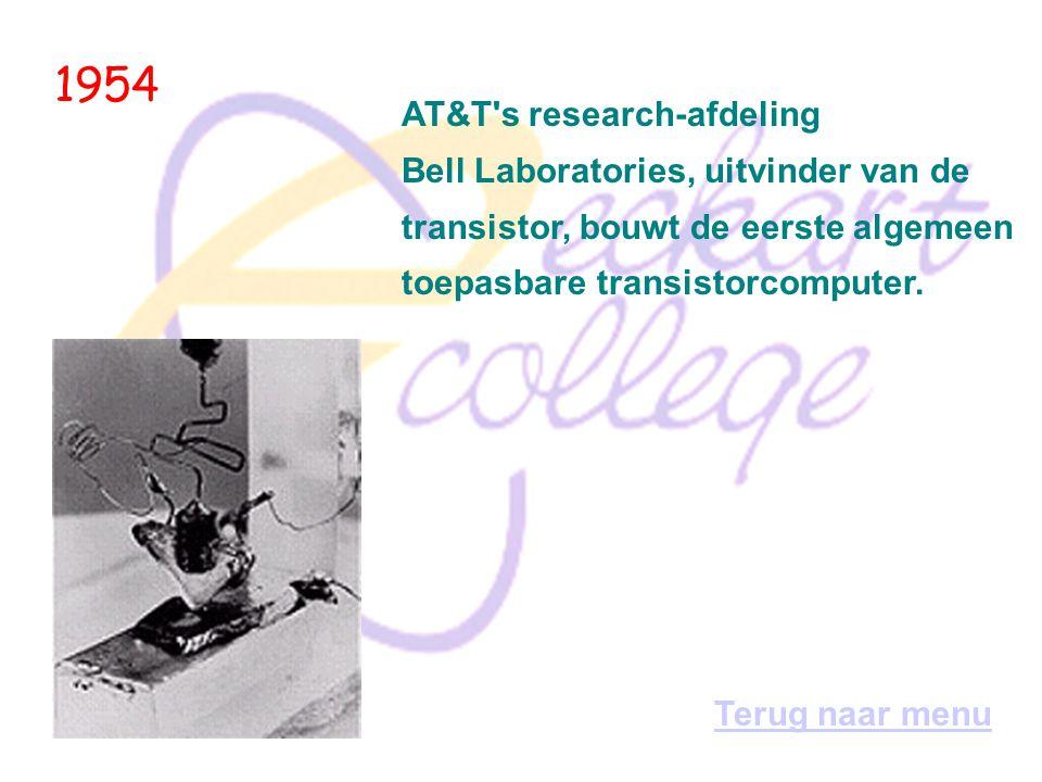 1954 AT&T s research-afdeling Bell Laboratories, uitvinder van de