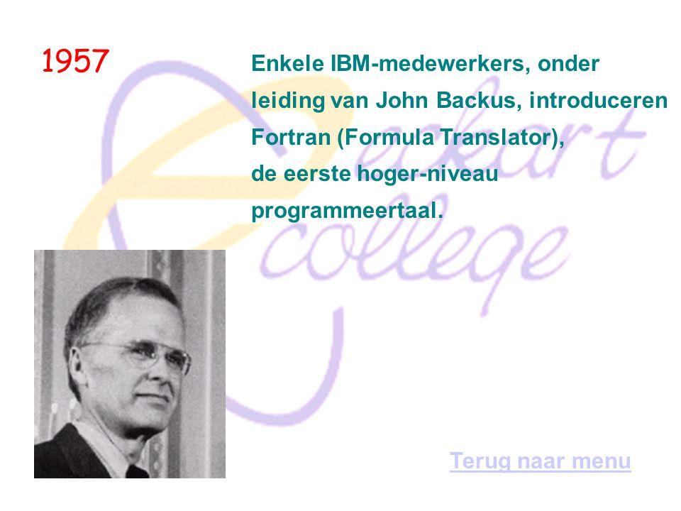 1957 Enkele IBM-medewerkers, onder
