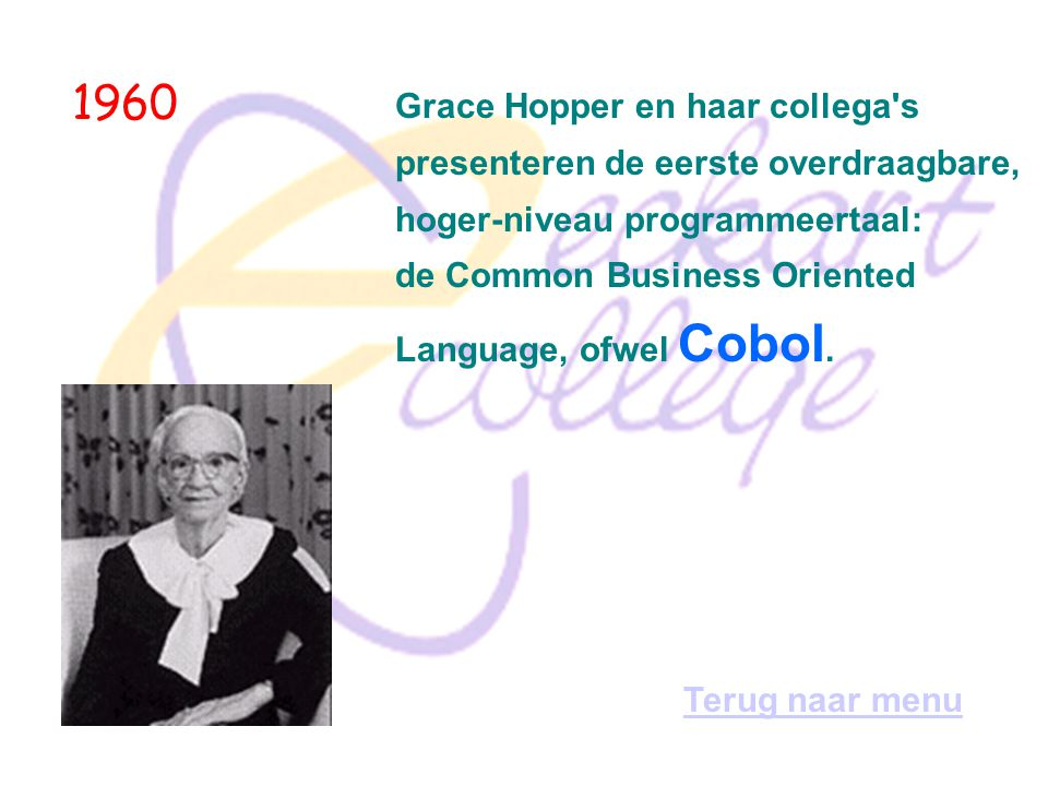 1960 Grace Hopper en haar collega s