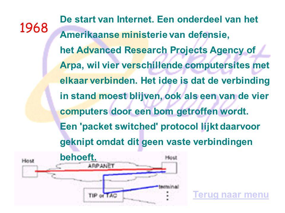1968 De start van Internet. Een onderdeel van het