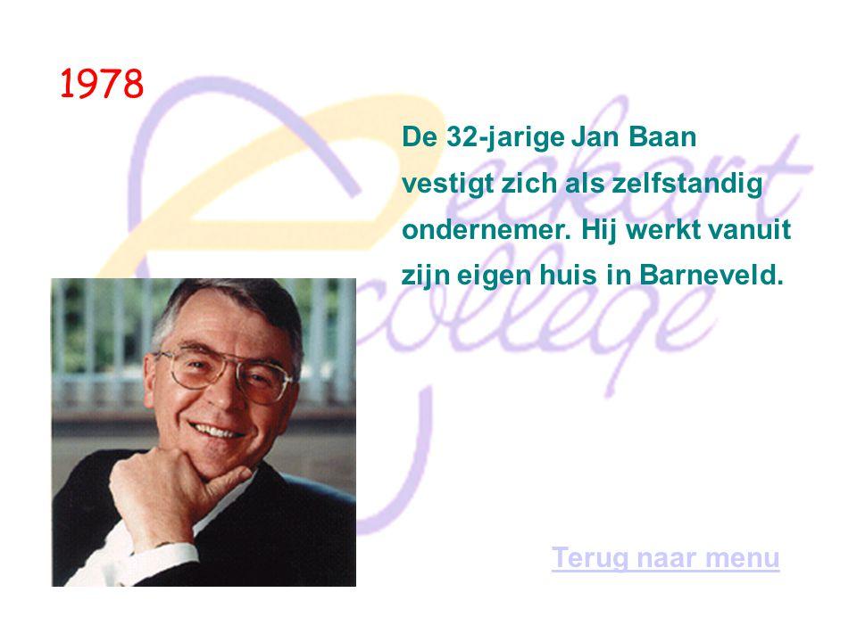 1978 De 32-jarige Jan Baan vestigt zich als zelfstandig