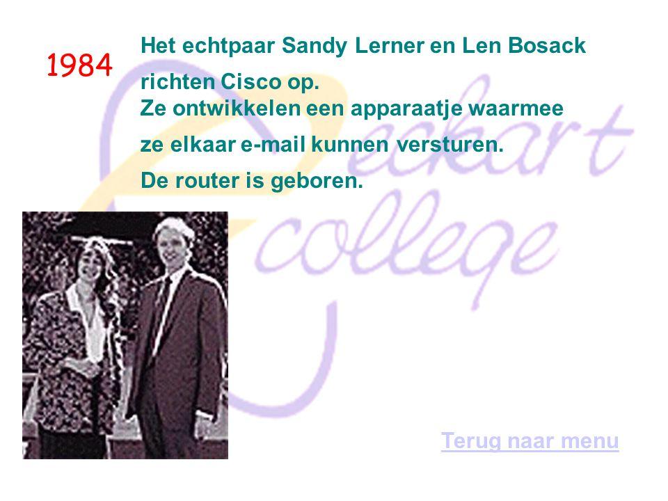 1984 Het echtpaar Sandy Lerner en Len Bosack