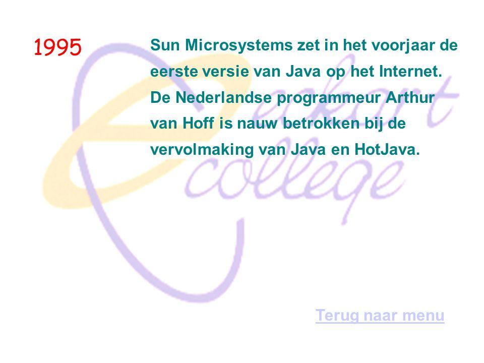 1995 Sun Microsystems zet in het voorjaar de