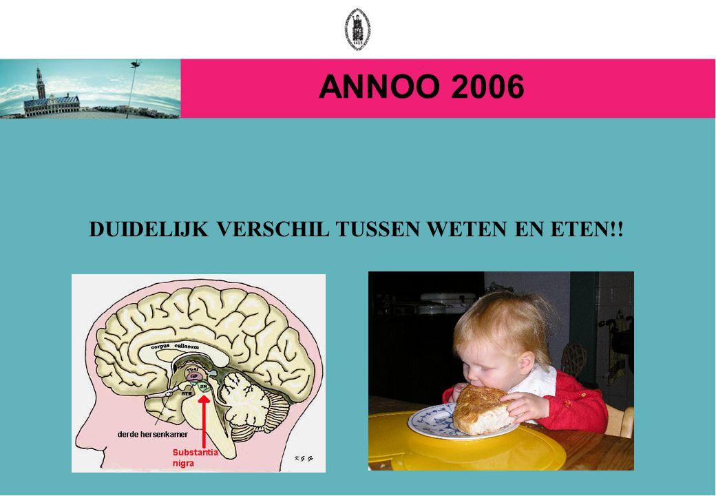 ANNOO 2006 DUIDELIJK VERSCHIL TUSSEN WETEN EN ETEN!!