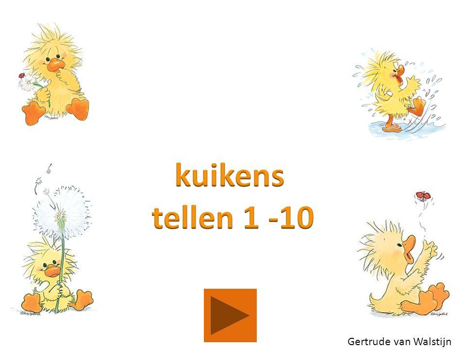 kuikens tellen 1 -10 Gertrude van Walstijn