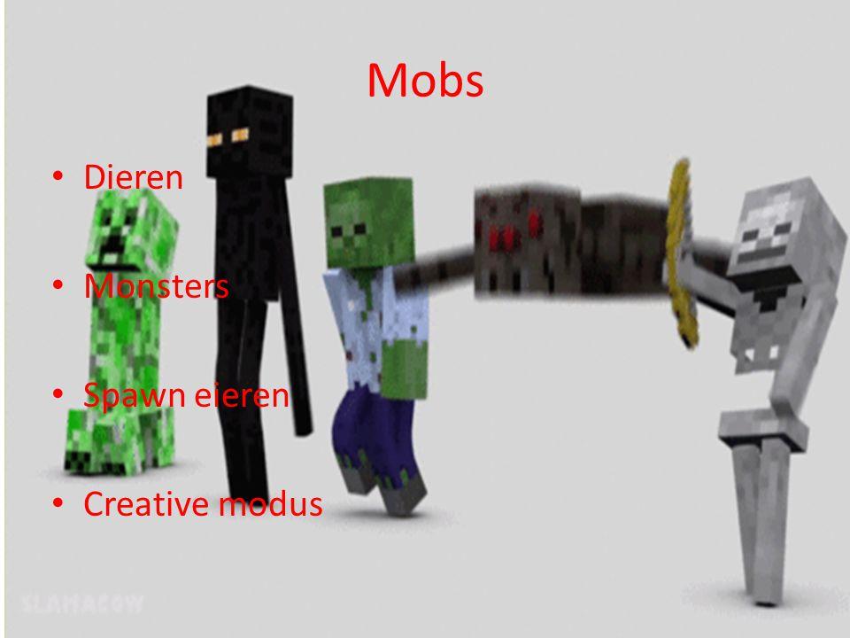 Mobs Dieren Monsters Spawn eieren Creative modus