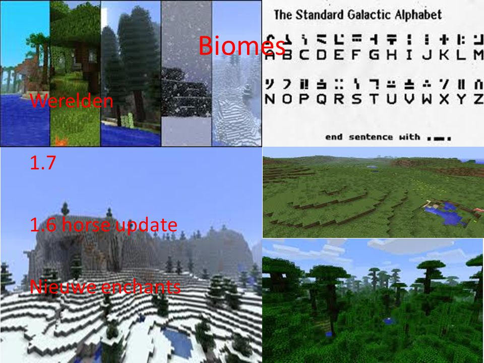 Biomes Werelden horse update Nieuwe enchants