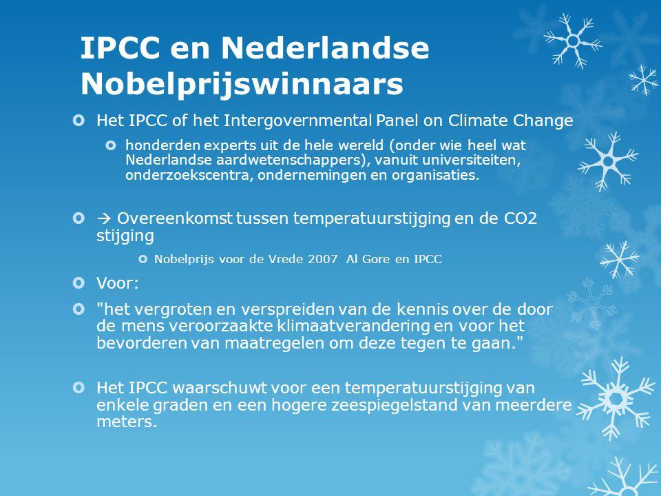 IPCC en Nederlandse Nobelprijswinnaars