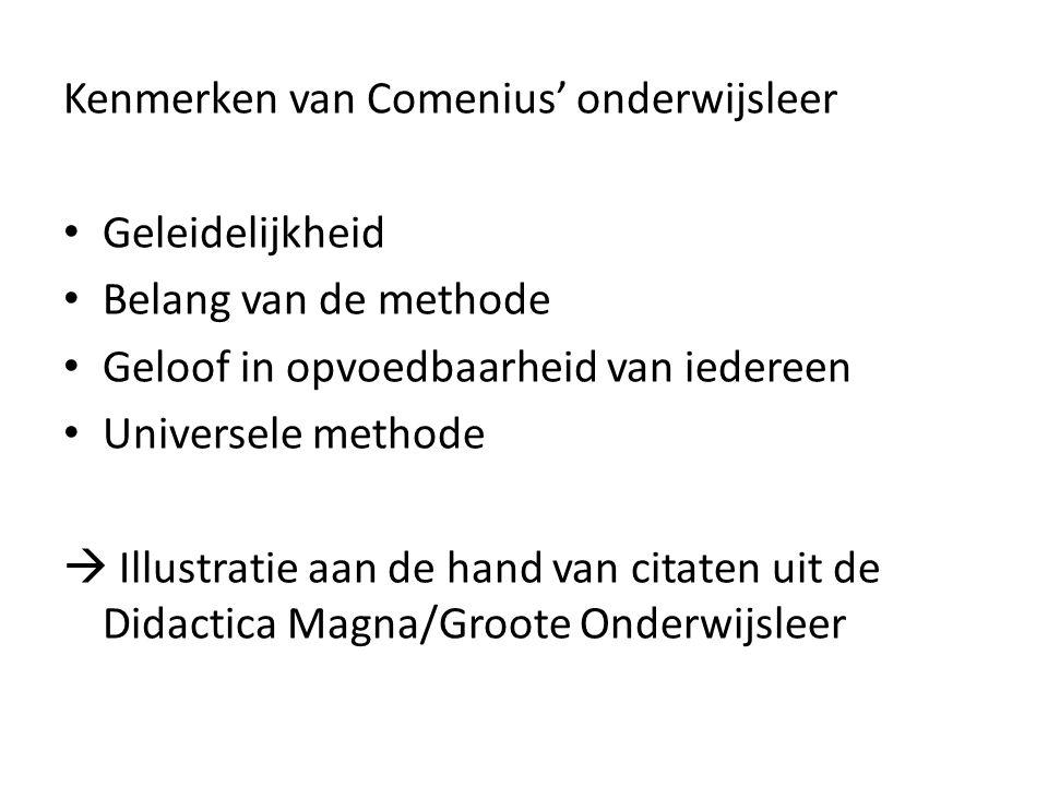 Kenmerken van Comenius' onderwijsleer