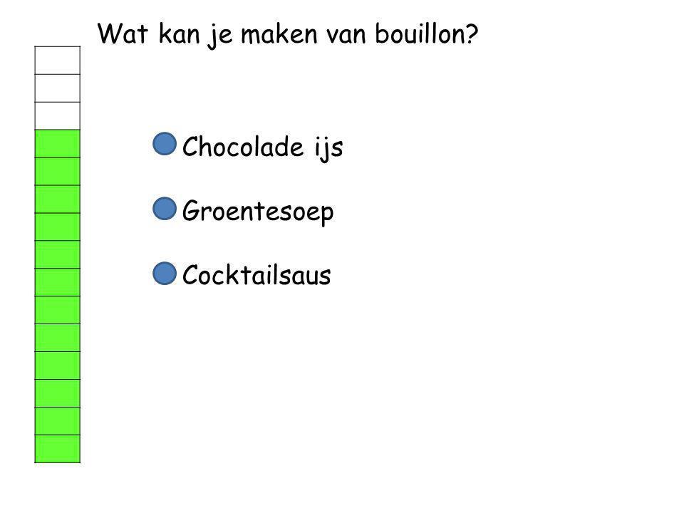 Wat kan je maken van bouillon