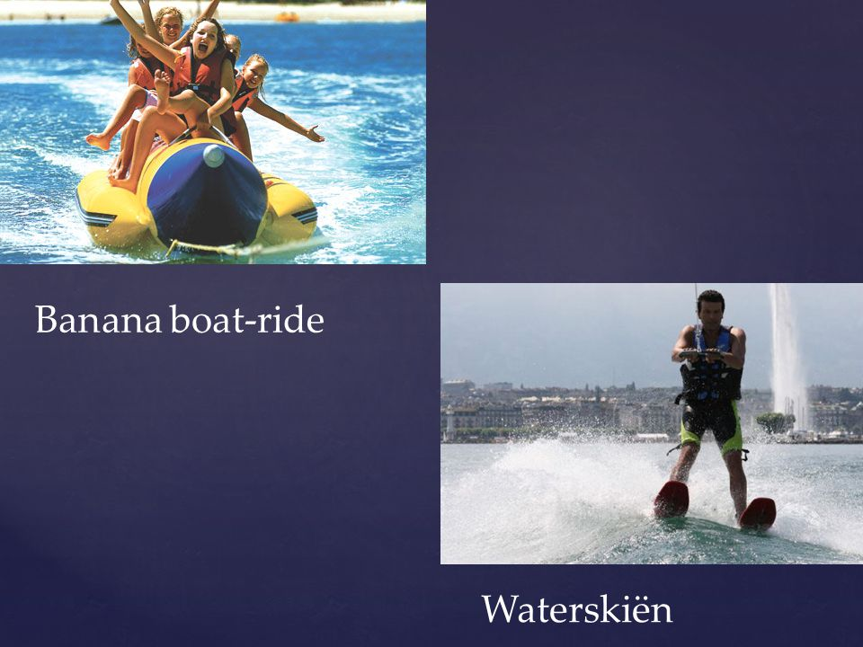 Banana boat-ride Waterskiën