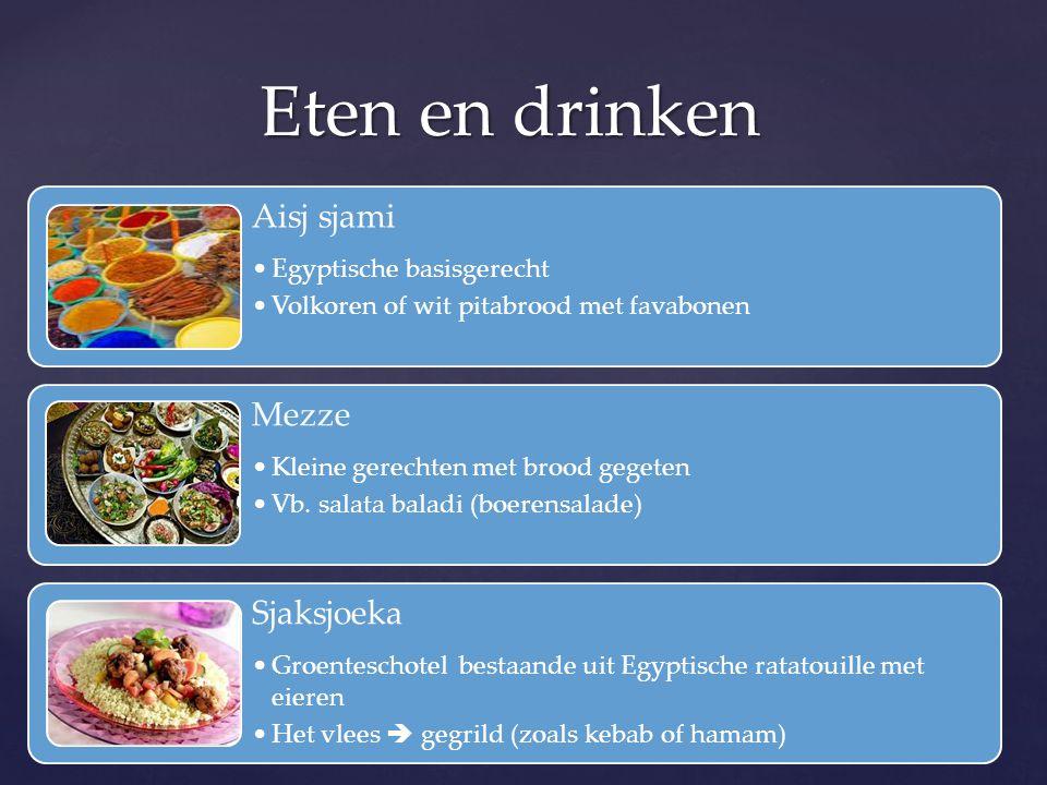 Eten en drinken Aisj sjami Mezze Sjaksjoeka Egyptische basisgerecht
