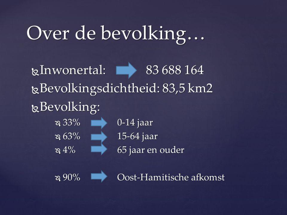 Over de bevolking… Inwonertal: 83 688 164