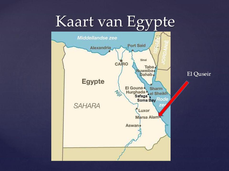 Kaart van Egypte El Quseir