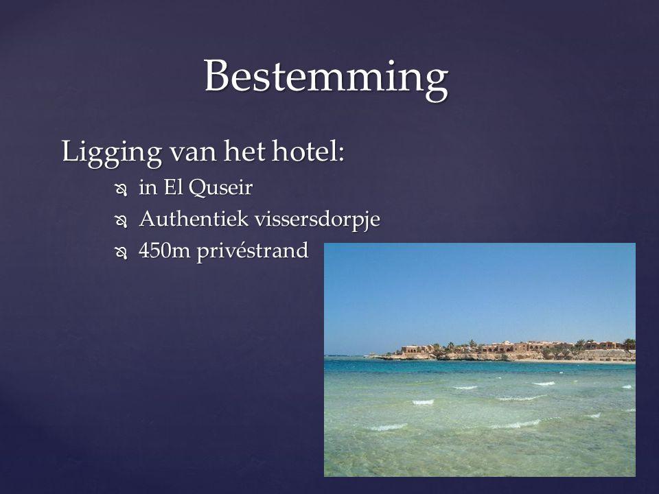 Bestemming Ligging van het hotel: in El Quseir