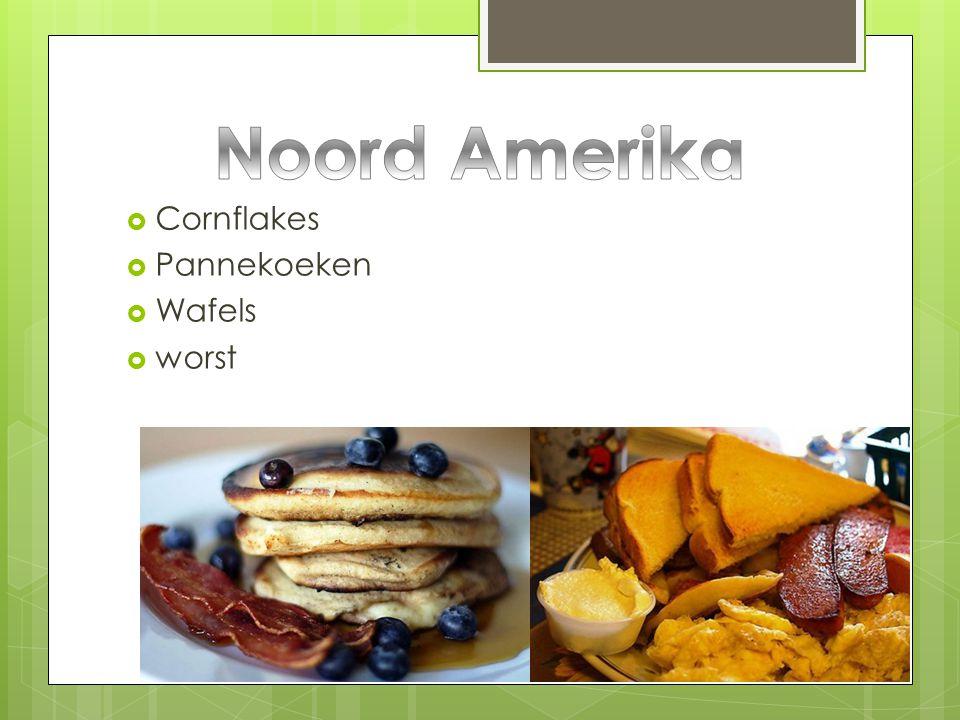 Noord Amerika Cornflakes Pannekoeken Wafels worst