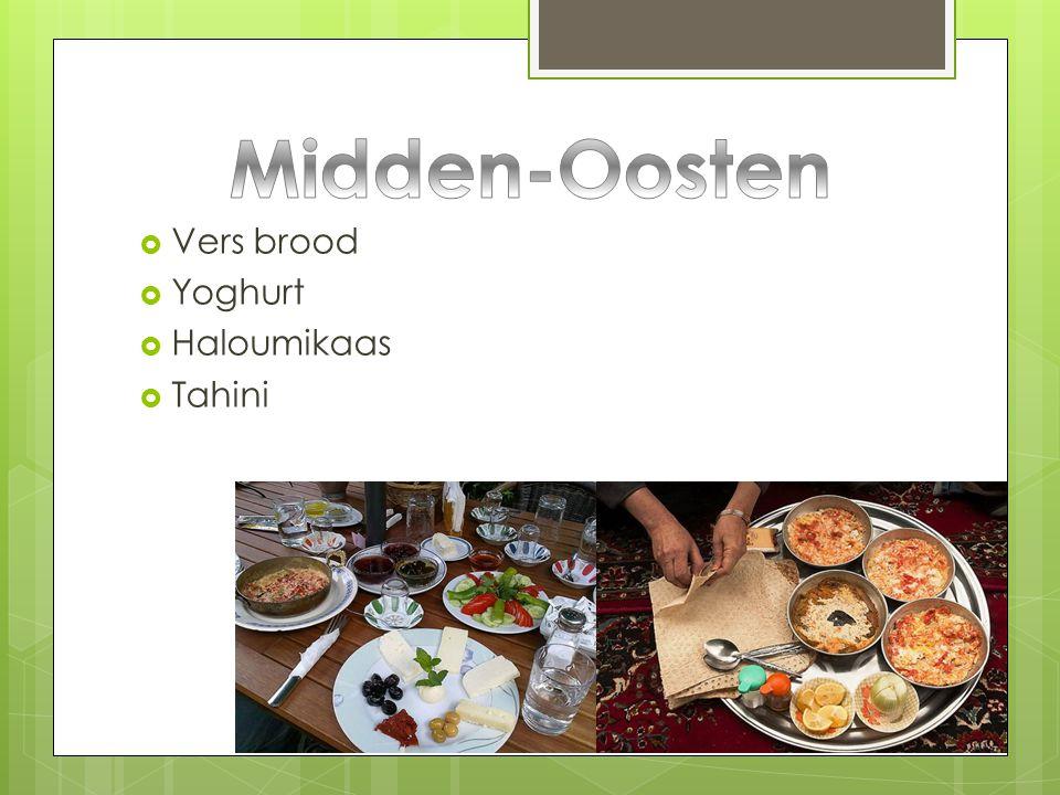 Midden-Oosten Vers brood Yoghurt Haloumikaas Tahini
