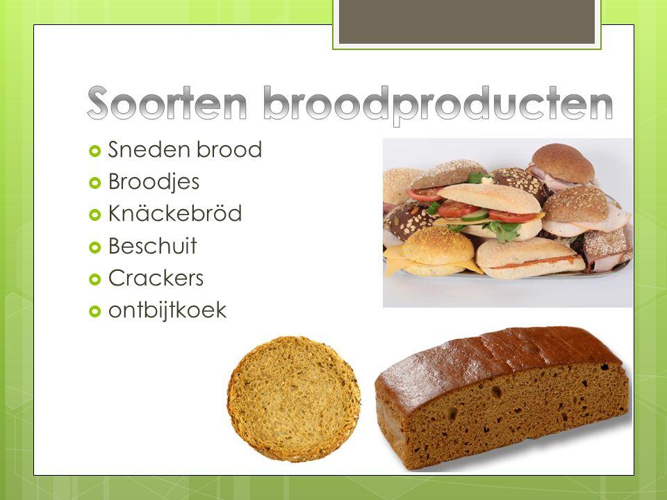 Soorten broodproducten