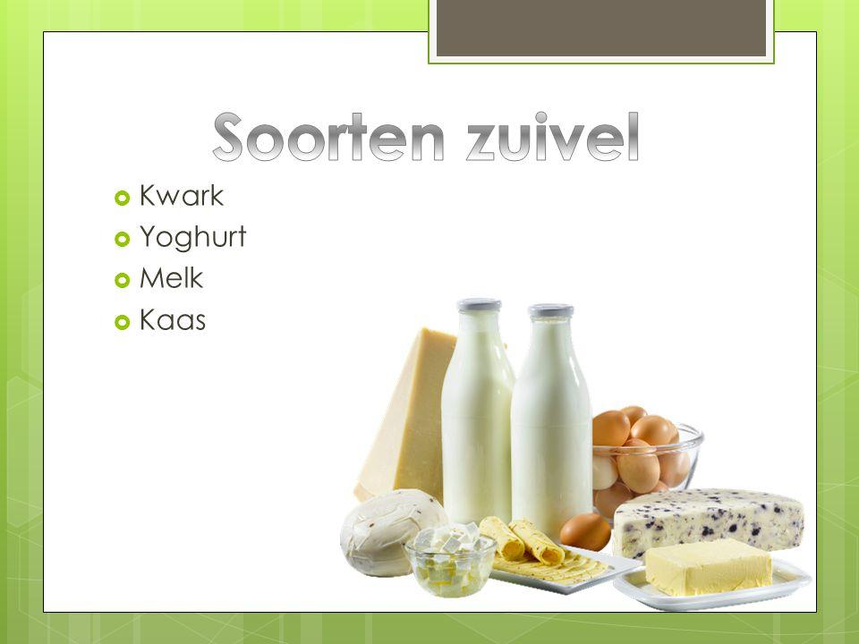 Soorten zuivel Kwark Yoghurt Melk Kaas