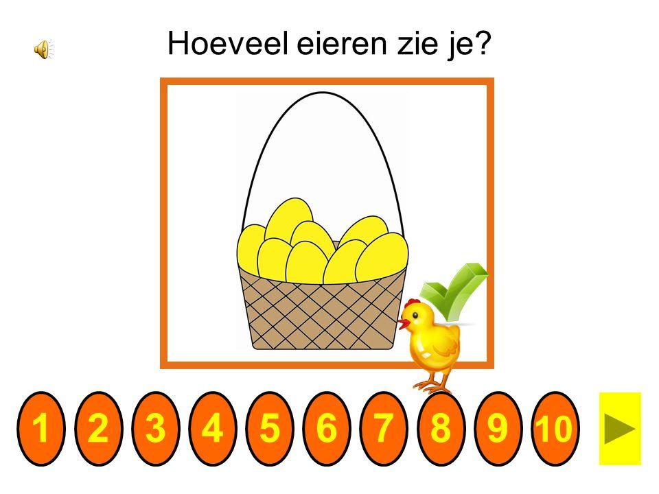 Hoeveel eieren zie je 1 2 3 4 5 6 7 8 9 10