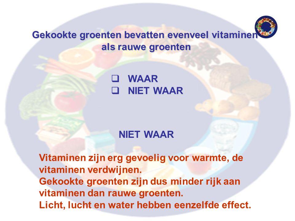 Gekookte groenten bevatten evenveel vitaminen als rauwe groenten